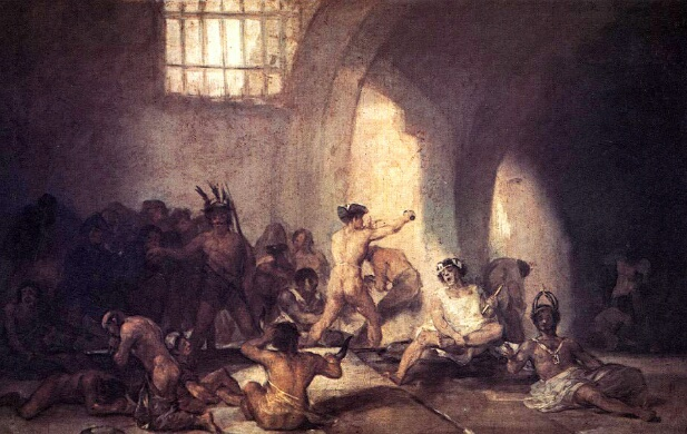 Дом умалишенных - Гойя Франсиско (1814)
